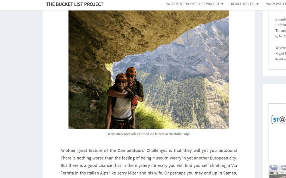Sponsored post on the Bucket List Project travel blog