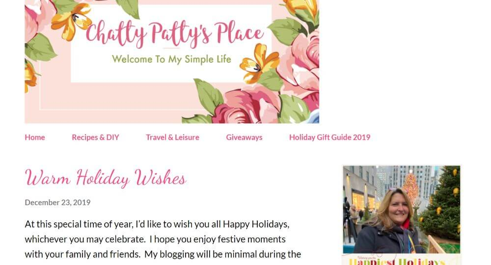 Chatty Patty Place travel influencer blog homepage