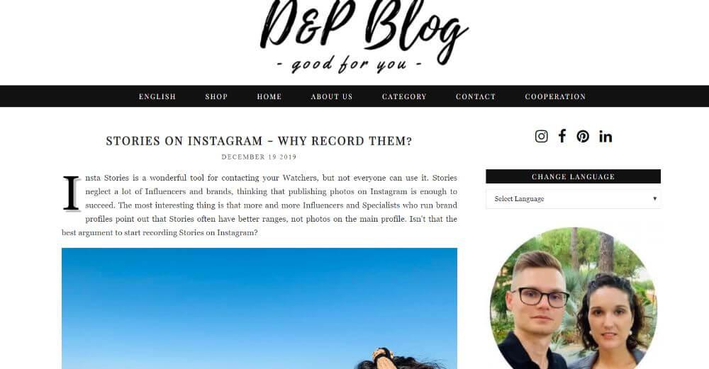 D&P Travel blog homepage