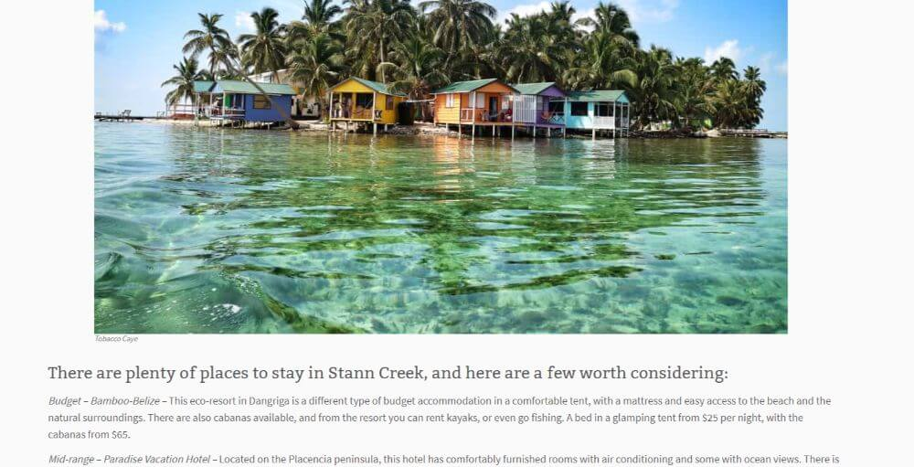 Go See Write Belize Sponsored Post with a Hotel