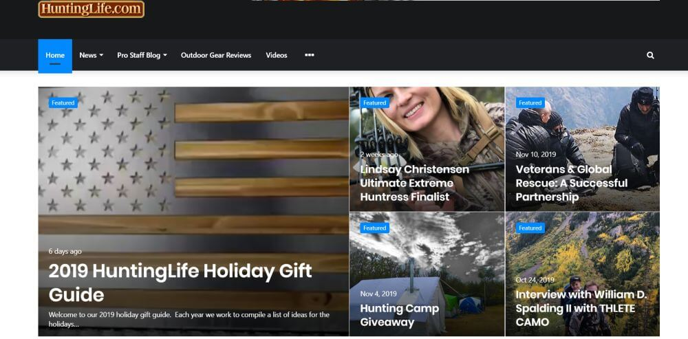 Hunting Life Blog homepage