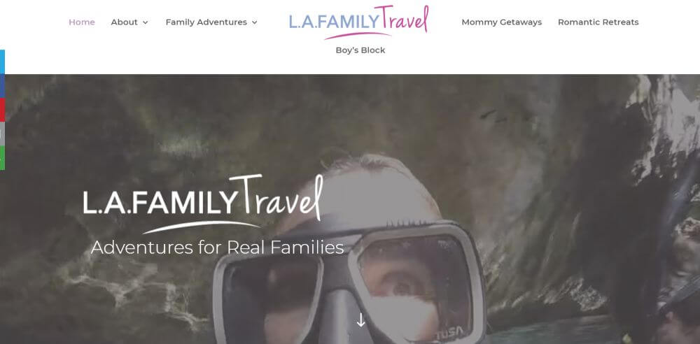 L.A. Family travel blog homepage