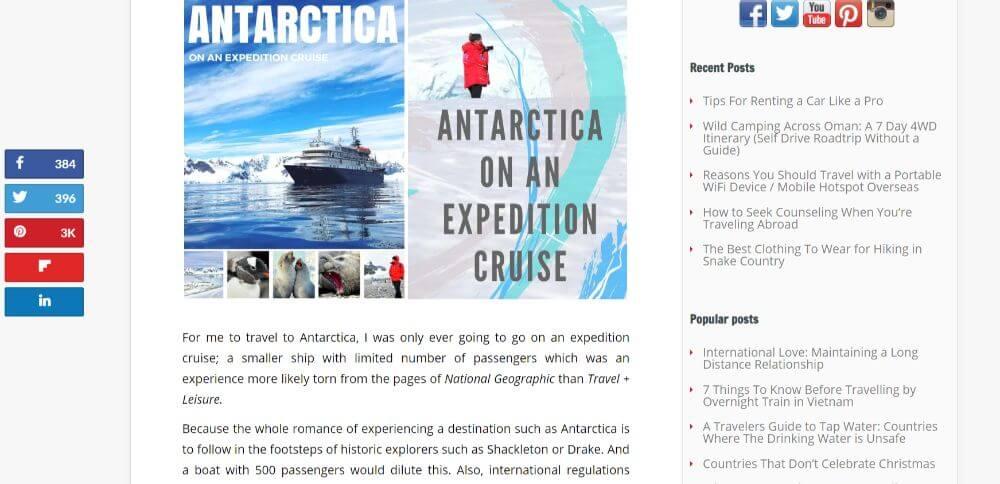 Mapping Megan Antarctica sponsored trip