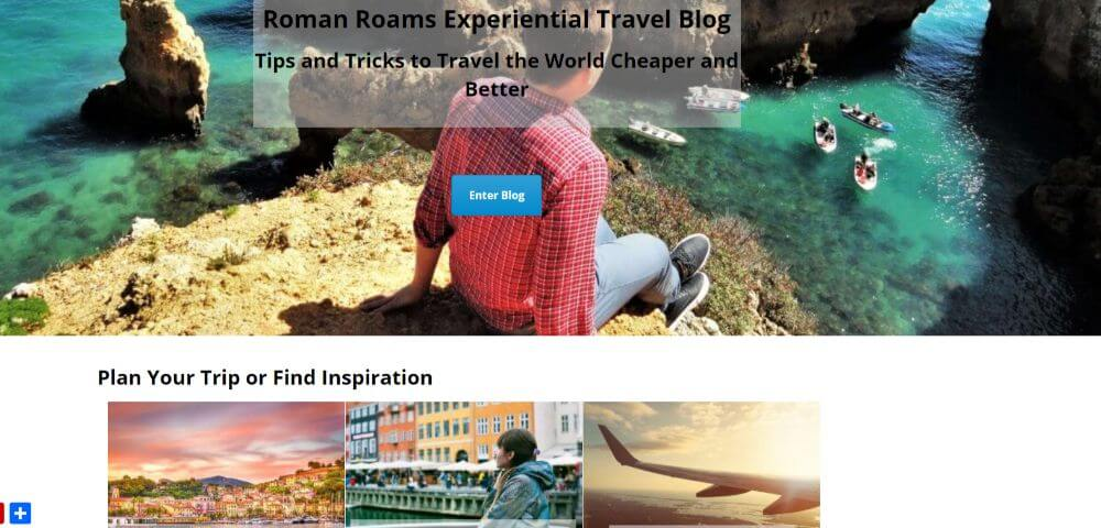 Roman Roams Experiential travel blog homepage